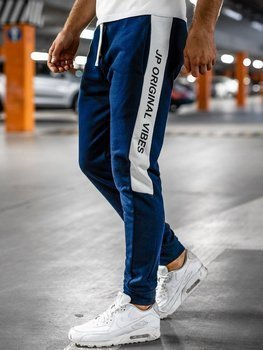 Темно-синие мужские спортивные брюки Bolf N1216