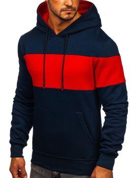 Темно-синий мужская толстовка с капюшоном Bolf KS2173