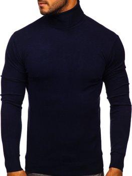 Темно-синий мужской свитер гольф Bolf YY02