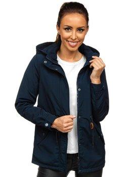 Темно-синяя женская демисезонная куртка парка Bolf 6364