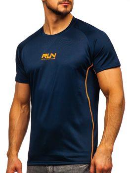 Темно-синяя мужская тренировочная футболка с принтом Bolf KS2101