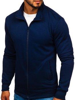 Толстовка мужская без капюшона темно-синий Bolf B002