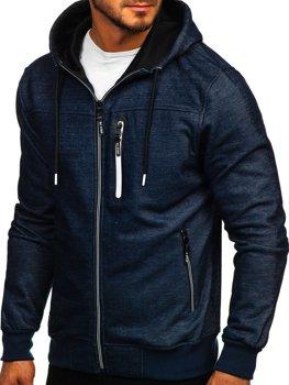 Толстовка мужская с капюшоном темно-синяя Bolf TC870-1