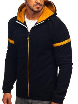 Толстовка мужская флисовая с капюшоном черная Bolf YL008