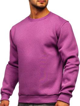 Фиолетовая мужская толстовка без капюшона Bolf 2001