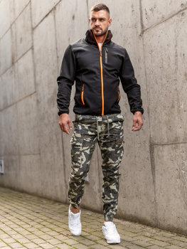 Черная демисезонная мужская куртка softshell Bolf Ks2185