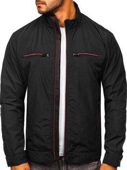 Черная демисезонная мужская элегантная куртка Bolf 6362