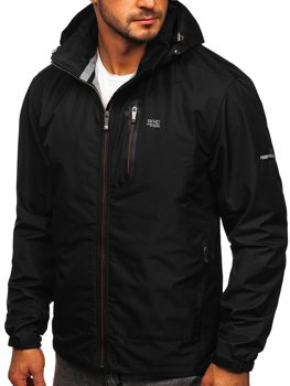 Черная куртка мужская демисезонная спортивная Bolf BK029