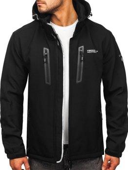 Черная мужская куртка софтшелл Bolf WX063