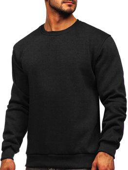 Черная мужская толстовка без капюшона Bolf 2001
