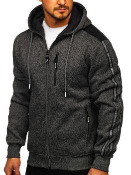 Черная мужская толстовка без капюшона Bolf tc960