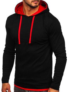 Черная мужская толстовка с капюшоном Bolf 03