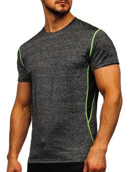 Черная мужская тренировочная футболка без принта Bolf KS2104