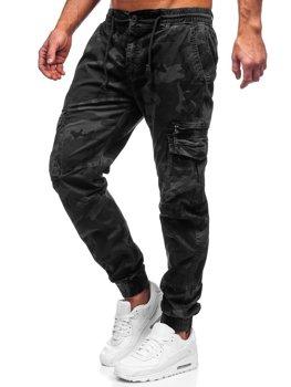 Черные мужские брюки джоггеры карго Bolf CT6026S0