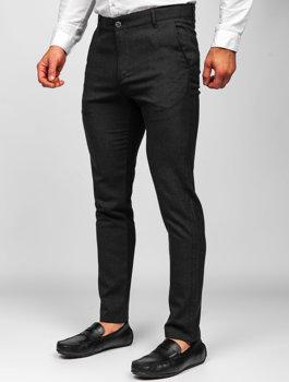 Черные мужские брюки чиносы Bolf 0016