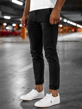 Черные мужские брюки чиносы Bolf 1146