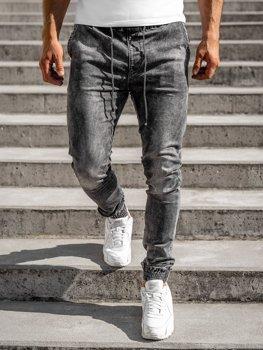 Черные мужские джинсовые джоггеры  Bolf KA1317