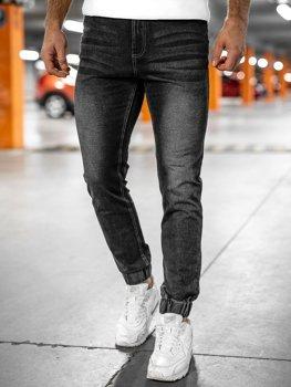 Черные мужские джинсовые джоггеры Bolf NJ55002