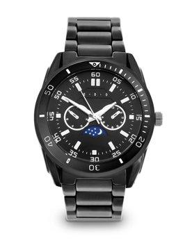 Черные мужские наручные часы из стали Bolf 5687