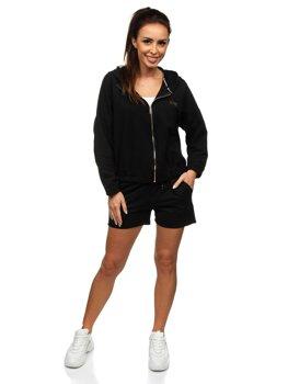 Черный женский спортивный костюм Bolf 2062