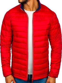Мужская демисезонная спортивная куртка красная Bolf Ly1017