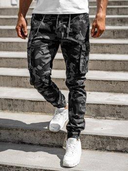Графитовые мужские брюки джоггеры-карго Bolf CT6019