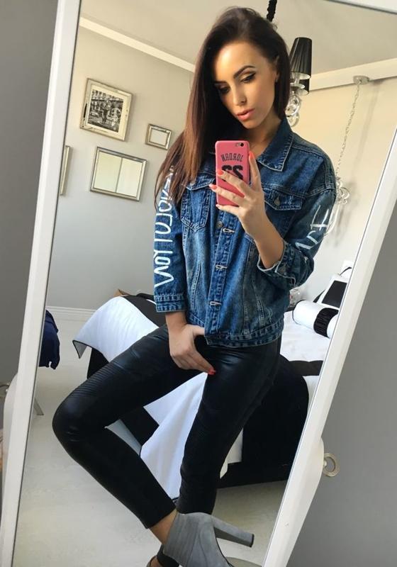 Женская джинсовая куртка темно-синяя Bolf 5131