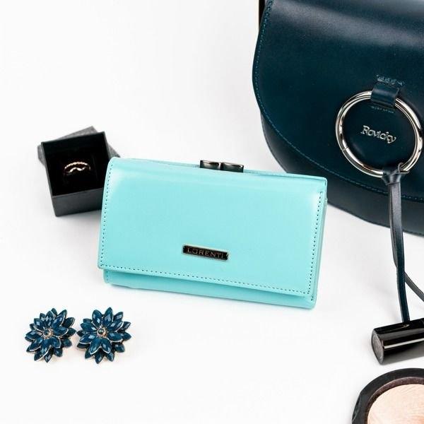 Женский кожаный кошелек бирюзовый 860