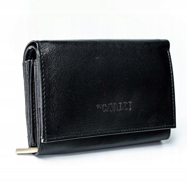 Женский кожаный кошелек черный 2780