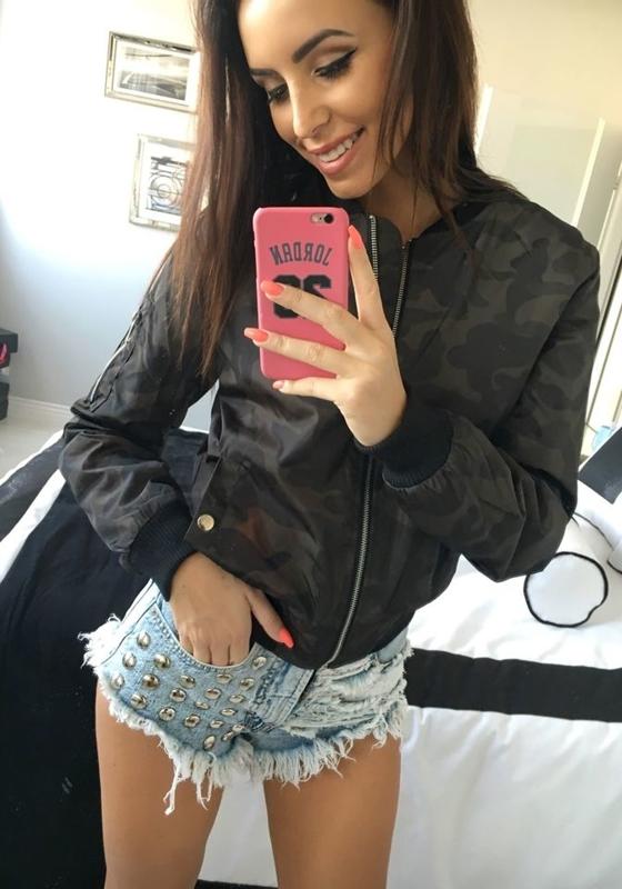 Камуфляж-хаки женская демисезонная куртка Bolf 5616