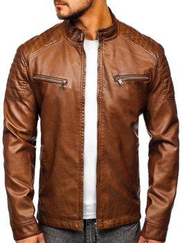 Коричневая мужская куртка косуха Bolf 2009