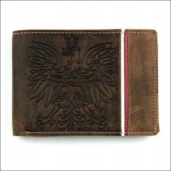 Кошелек мужской кожаный коричневый 677