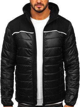 Мужская демисезонная куртка черная Bolf K104