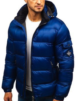 Мужская зимняя куртка темно-синяя Bolf AB64