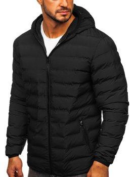 Мужская зимняя куртка черная Bolf SM67