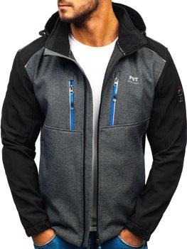 Мужская куртка софтшелл графитовая Bolf AB141