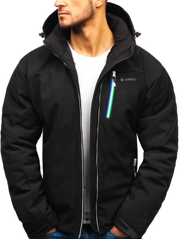 Мужская лыжная куртка черная Bolf 1521