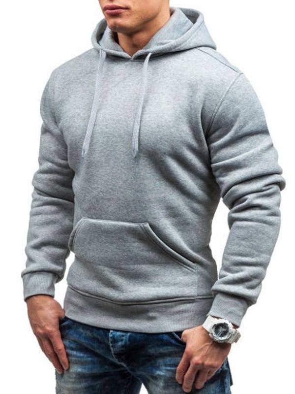 Мужская толстовка с капюшоном серая Bolf M16