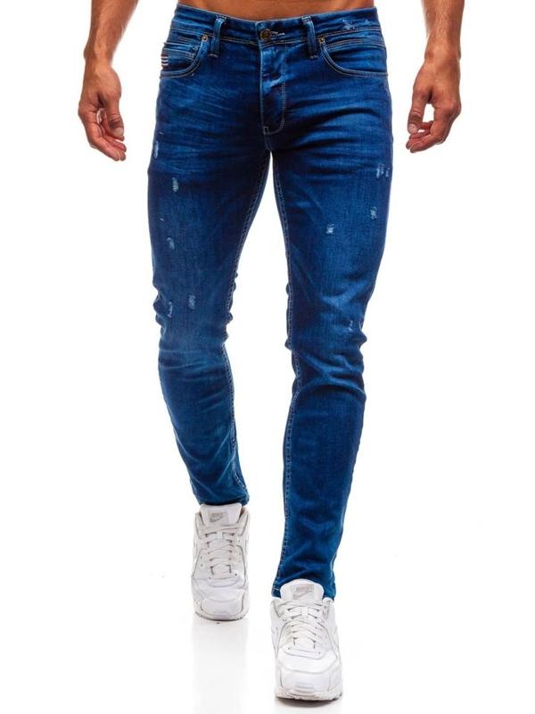 Мужские джинсовые брюки синие Bolf 0671