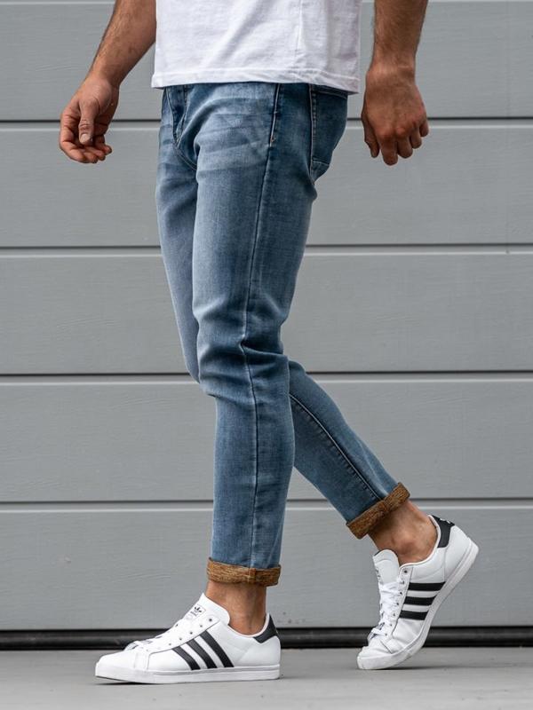 Мужские джинсовые брюки синие Bolf KX163