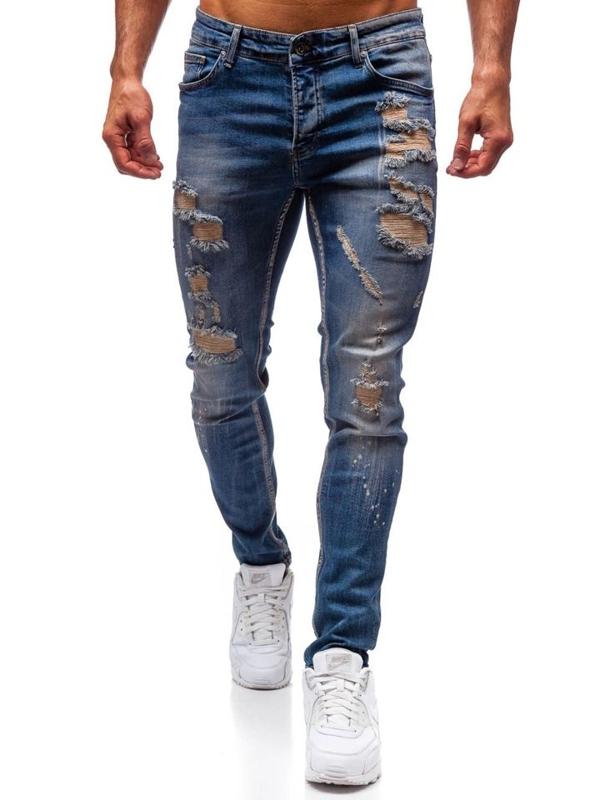 Мужские джинсовые брюки темно-синие Bolf 1004
