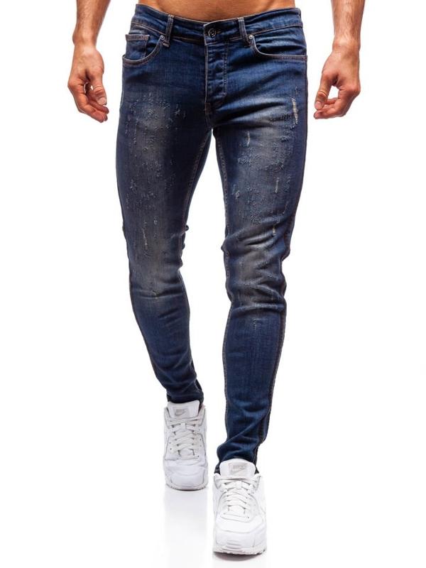 Мужские джинсовые брюки темно-синие Bolf 1014