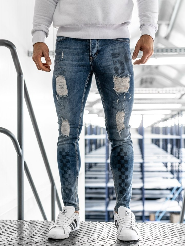 Мужские джинсовые брюки темно-синие Bolf 1062