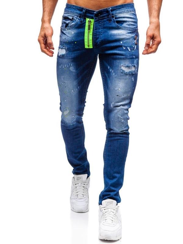 Мужские джинсовые брюки темно-синие Bolf 9236