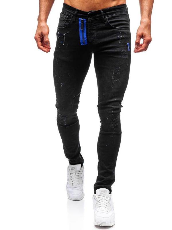 Мужские джинсовые брюки черные Bolf 9244