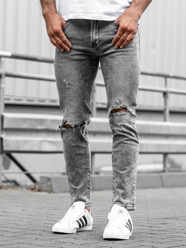 Мужские джинсовые брюки черные Bolf KA897