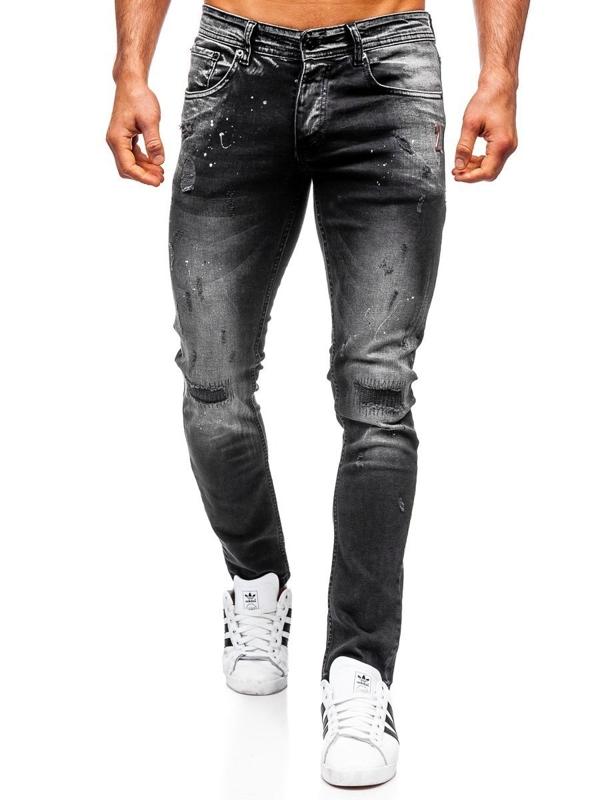 Мужские джинсовые брюки regular fit черные Bolf 4000