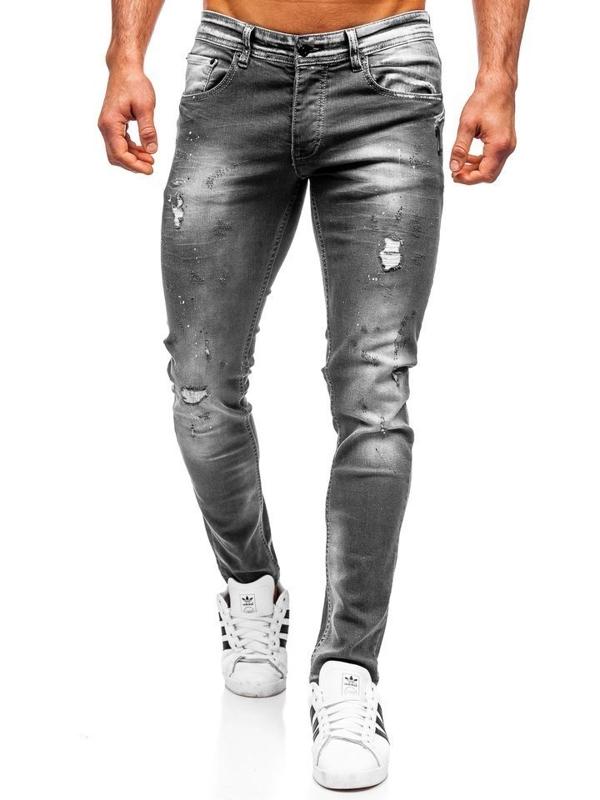 Мужские джинсовые брюки regular fit черные Bolf 4006