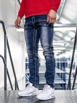 Мужские  джинсовые брюки straight leg темно-синие Bolf KA9915