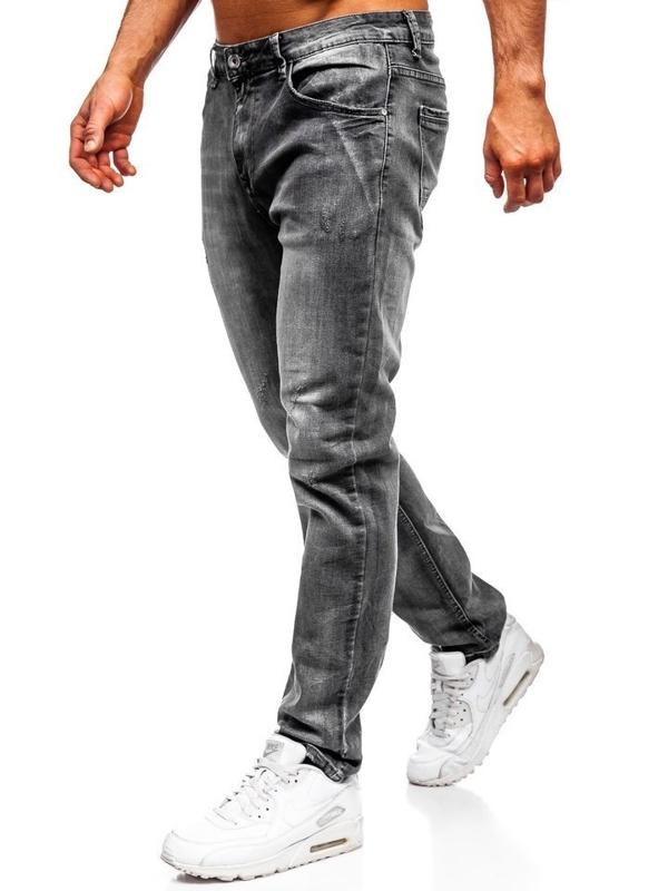Мужские  джинсовые брюки straight leg черные Bolf KA1575